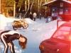 1975, zum Schifahren in Mitterbach mit meinem Fiat Sport